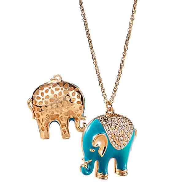 Colier Lung Cu Elefant
