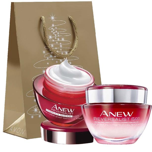 Set crema de zi si de noapte Anew Reversalist Complete Renewal - Punga cadou - Catalog Avon