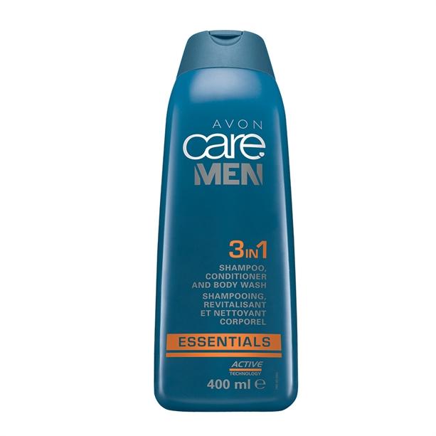 3 in 1 Sampon, balsam si gel de dus Avon Care Men Essentials - 400ml - Catalog Avon