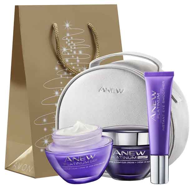 Set 3 produse Anew Platinum si Geanta cosmetice - Catalog Avon