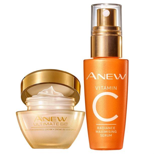 Set Crema de zi Anew Multi-Performance si Ser Anew cu vitamina C - Catalog Avon