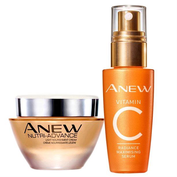 Set Crema hidratanta pentru ten normal sau mixt Anew si Ser Anew cu vitamina C - Catalog Avon