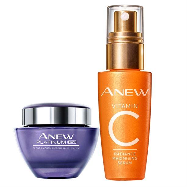 Set Crema de zi Anew Platinum si Ser Anew cu vitamina C - Catalog Avon