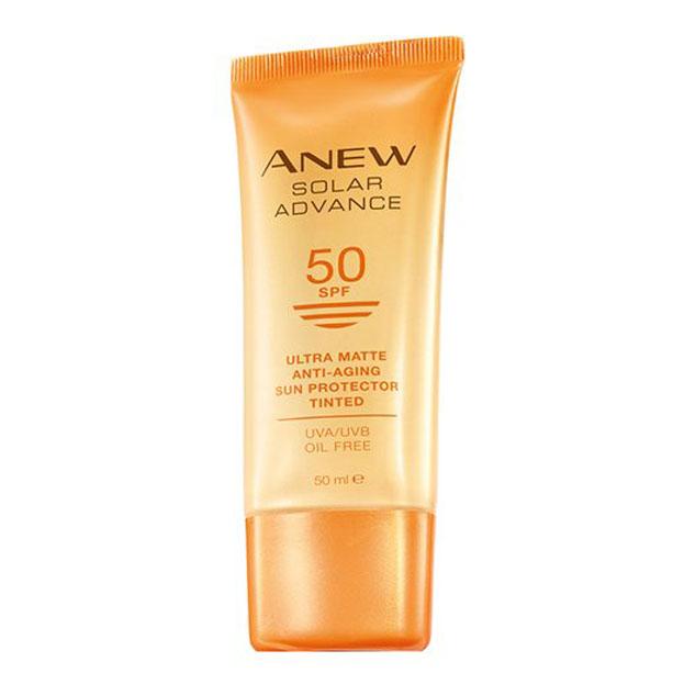 Crema nuantatoare SPF 50 Anew Solar Advance Tinted - Catalog Avon