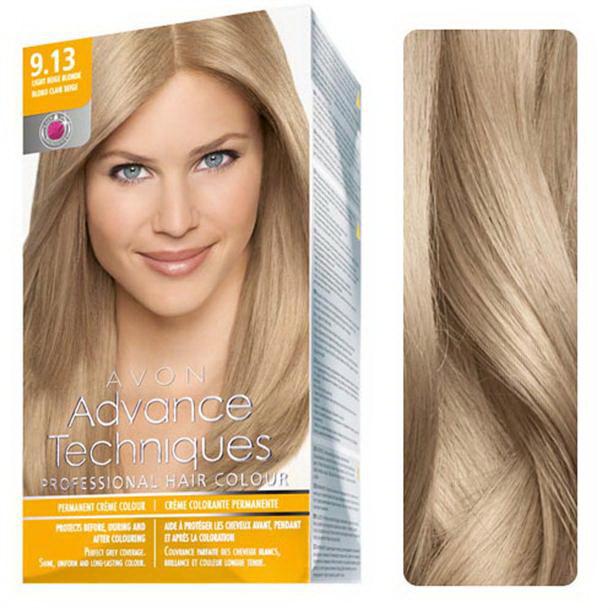 Vopsea de par profesionala Blond deschis-bej 9.13 - Catalog Avon