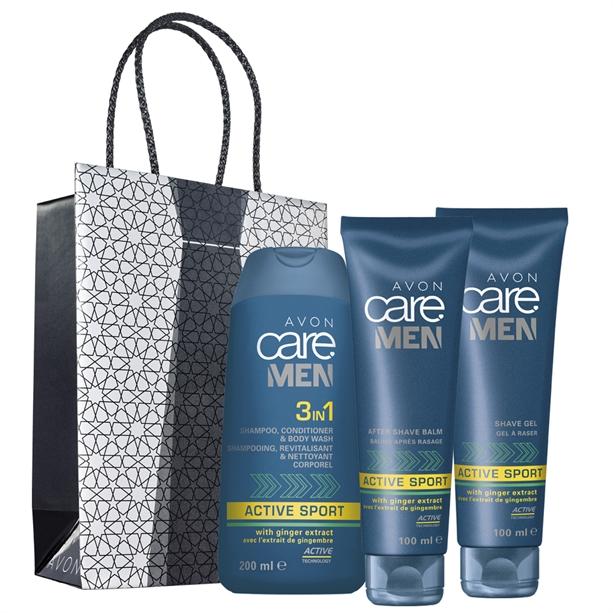 Set 3 produse Avon Care Men Active Sport - Punga cadou El - Catalog Avon