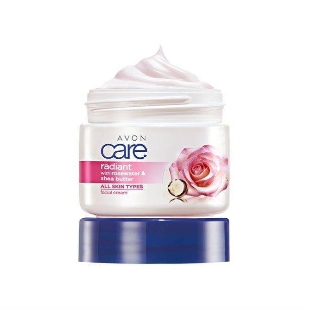 Crema de fata Avon Care cu apa de trandafiri si unt de shea **** - Catalog Avon