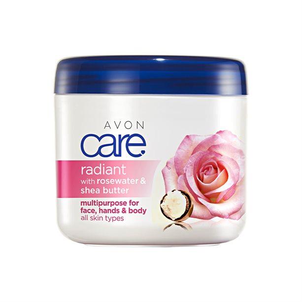 Crema multifunctionala Avon Care cu apa de trandafiri si unt de shea - Catalog Avon