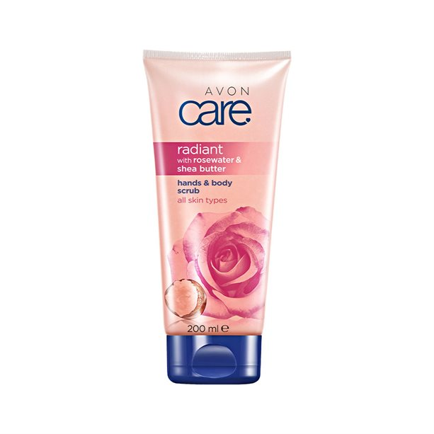 Exfoliant Avon Care cu apa de trandafiri si unt de shea - Catalog Avon