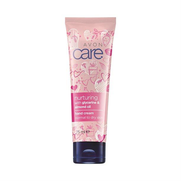 Crema de maini Avon Care cu glicerina si ulei de migdale - roz - Catalog Avon