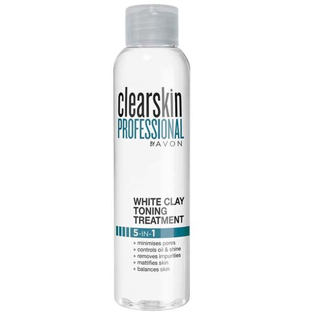 Tratament pentru tonifiere 5 in 1 cu argila alba Clearskin Professional - Catalog Avon