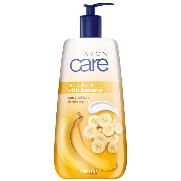 Lotiune de corp revitalizanta Avon Care cu aroma de banane 750 ml - Catalog Avon