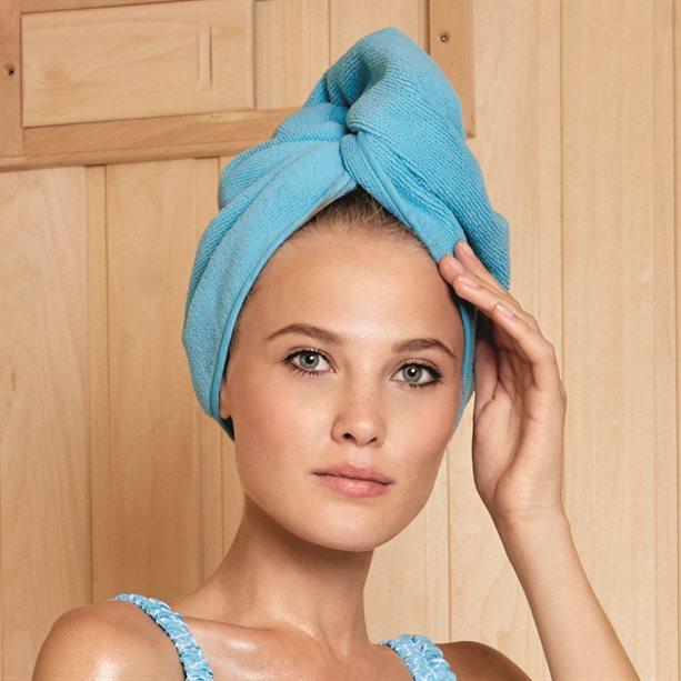 Turban albastru din microfibra - Catalog Avon