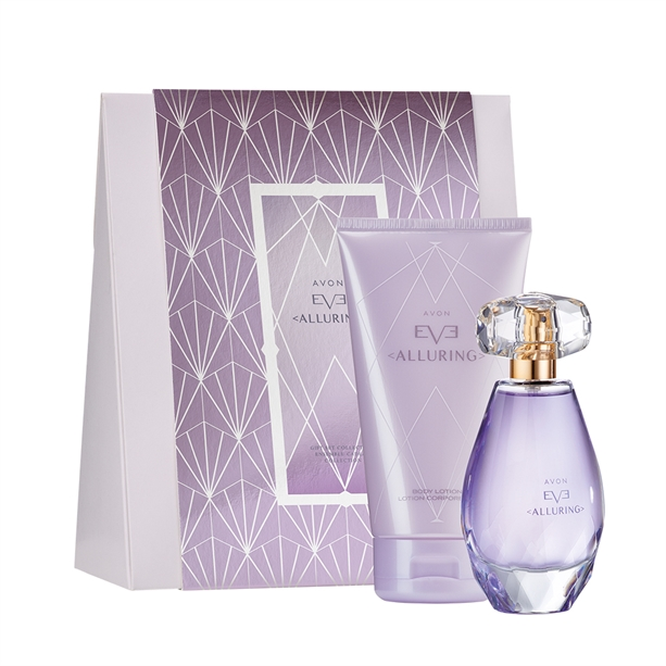 Set cadou ambalat Apa de parfum si Lotiune de corp Avon Eve Alluring - Catalog Avon