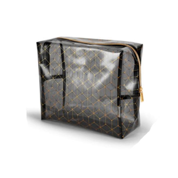 Geanta neagra transparenta pentru cosmetice Logo - Catalog Avon