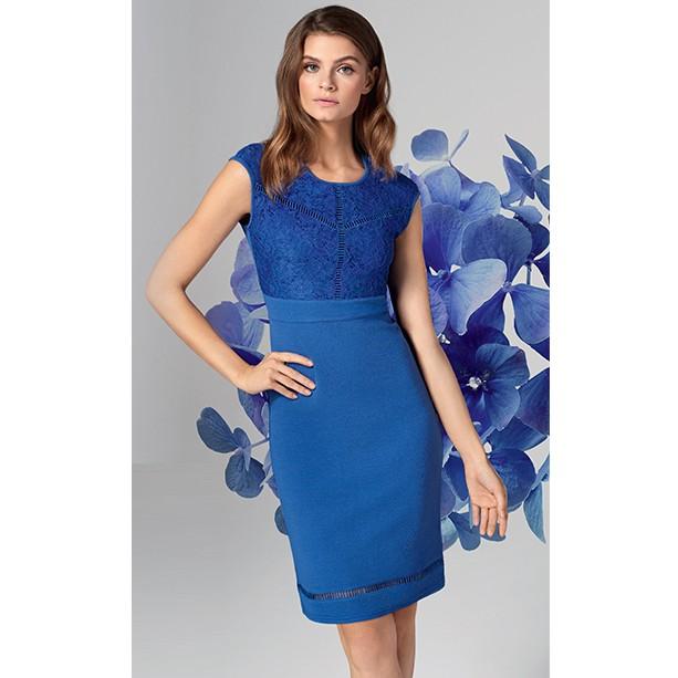 Rochie cu top de dantela - albastru regal - Catalog Avon