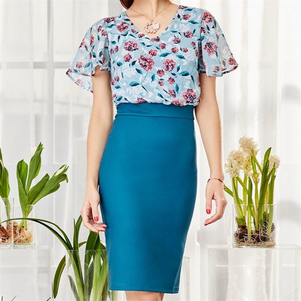 Rochie din sifon cu imprimeu floral - Catalog Avon