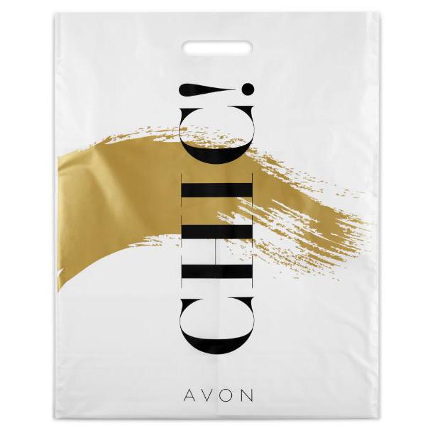 Set de 5 pungi plastic 30 x 40 cm - mediu - Catalog Avon