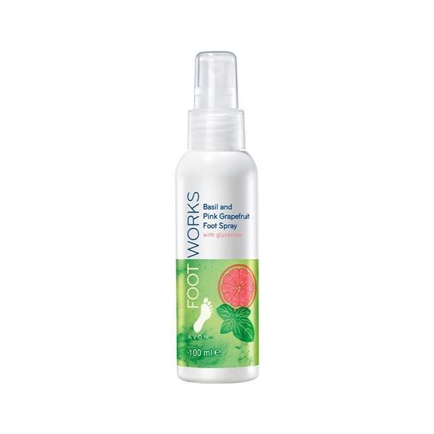 Spray racoritor pentru picioare cu busuioc si grepfruit Footworks - Catalog Avon