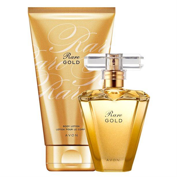 Set Apa de parfum si Lotiune de corp Rare Gold - Catalog Avon