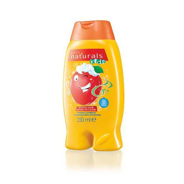 Sampon si balsam pentru copii cu aroma de mere Naturals Kids - Catalog Avon