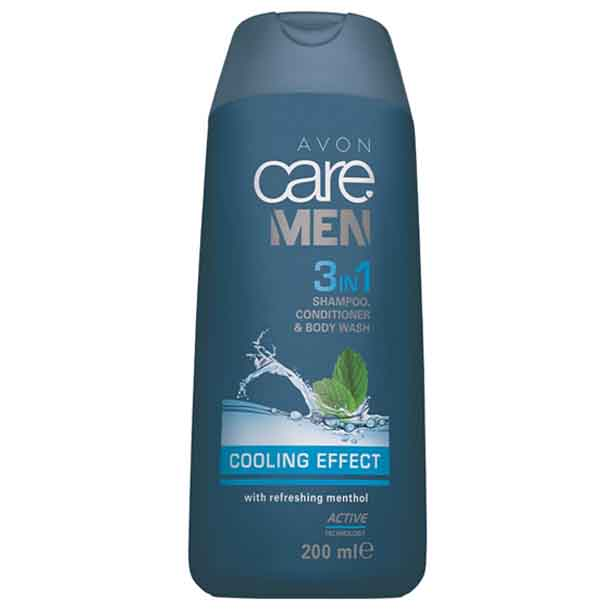 3 in 1 Sampon, balsam si gel de dus Avon Care Men Cooling Effect - 200 ml - Catalog Avon