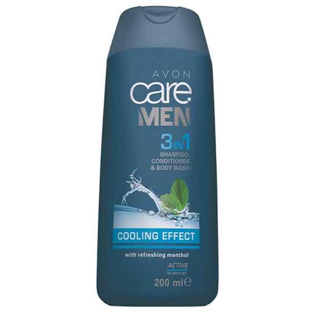 3 in 1 Sampon, balsam si gel de dus Avon Care Men Cooling Effect - 200 ml - Catalog Avon