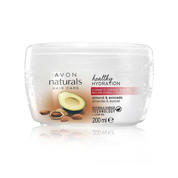 Balsam Naturals cu avocado si ulei de migdale pentru hidratarea parului - Catalog Avon
