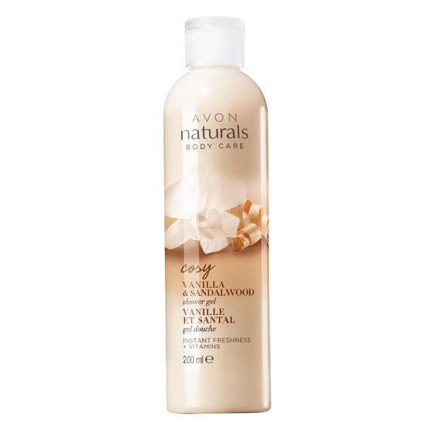 Gel de dus Naturals cu aroma de vanilie si lemn de santal - Catalog Avon