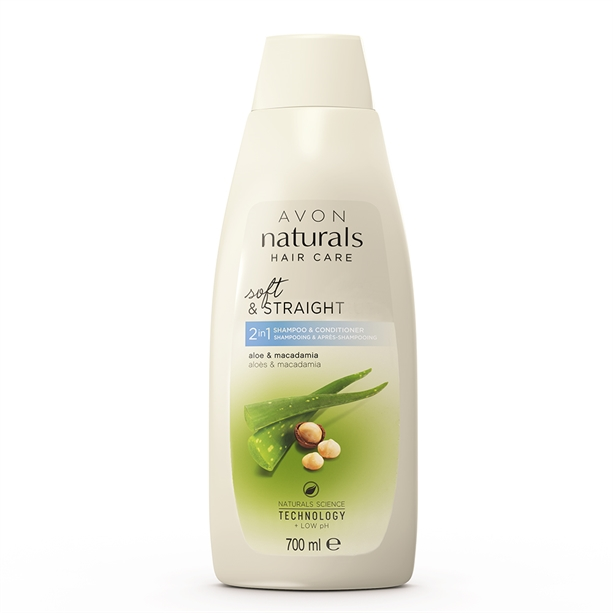 2 in 1 Sampon si Balsam Naturals cu aloe si macadamia 700 ml - Catalog Avon