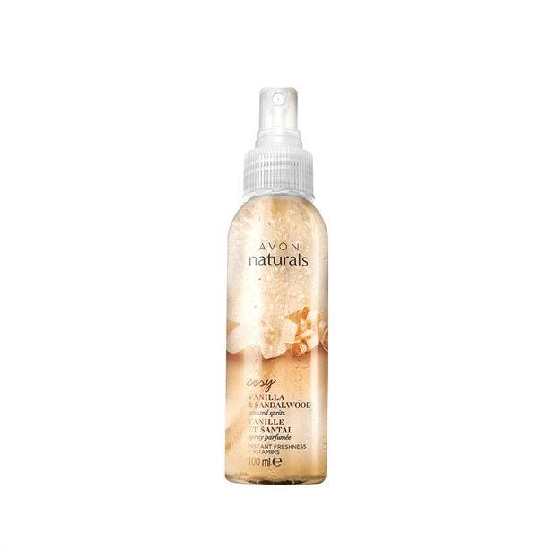 Spray de corp parfumat Naturals cu vanilie si lemn de santal - Catalog Avon