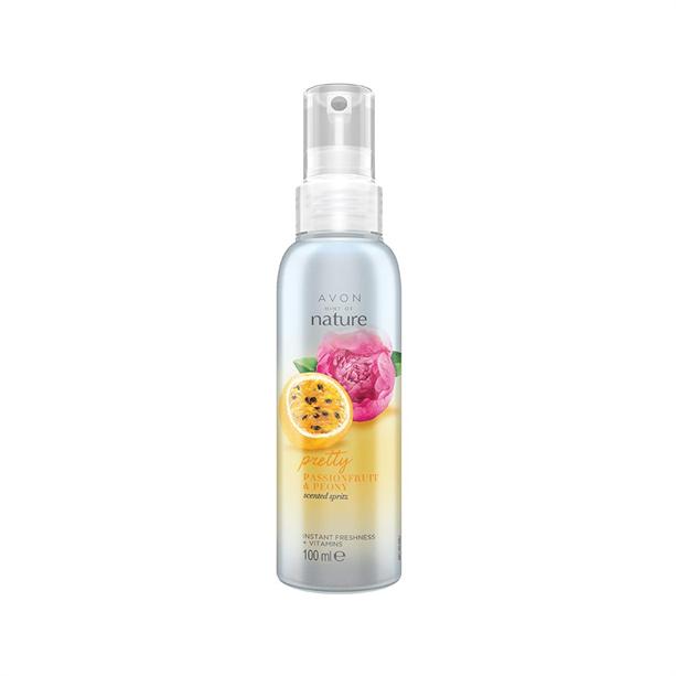 Spray de corp parfumat Naturals cu bujor si fructul pasiunii - Catalog Avon