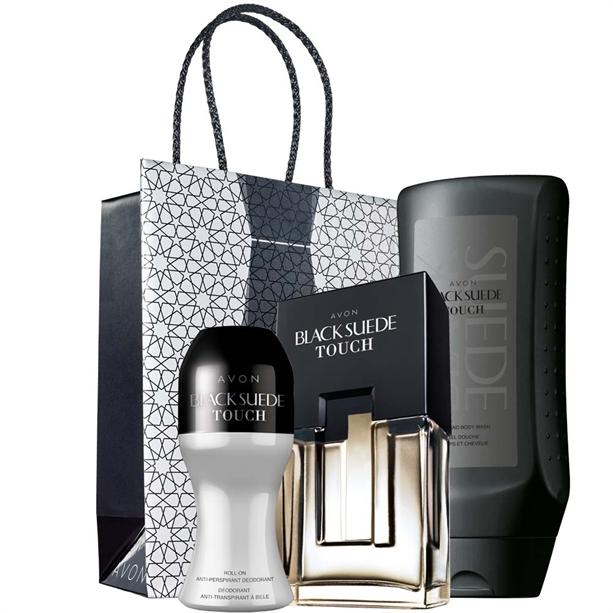 Set 3 produse Black Suede Touch si Punga cadou Avon pentru EL - Catalog Avon