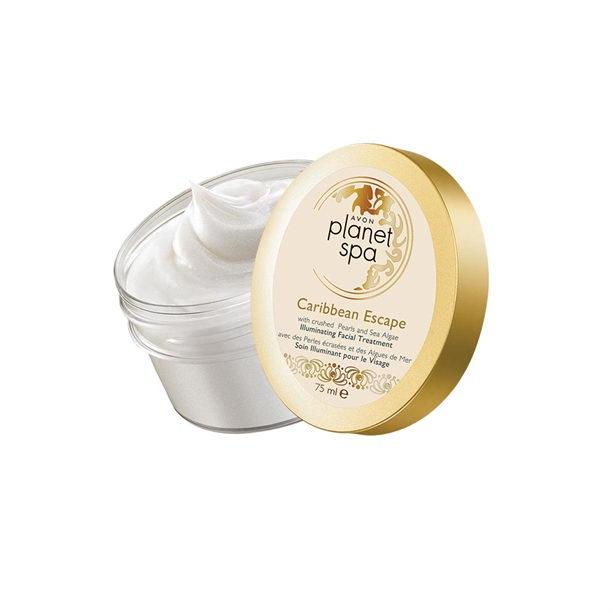 Gel-crema de noapte iluminator cu pudra de perle si alge Caribbean Escape - Catalog Avon