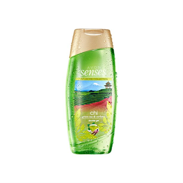 Gel de dus Senses Chi Green Tea si Verbena 250 ml - Catalog Avon