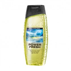 2 in 1 Gel de dus pentru par si corp Senses Power Fresh 250 ml