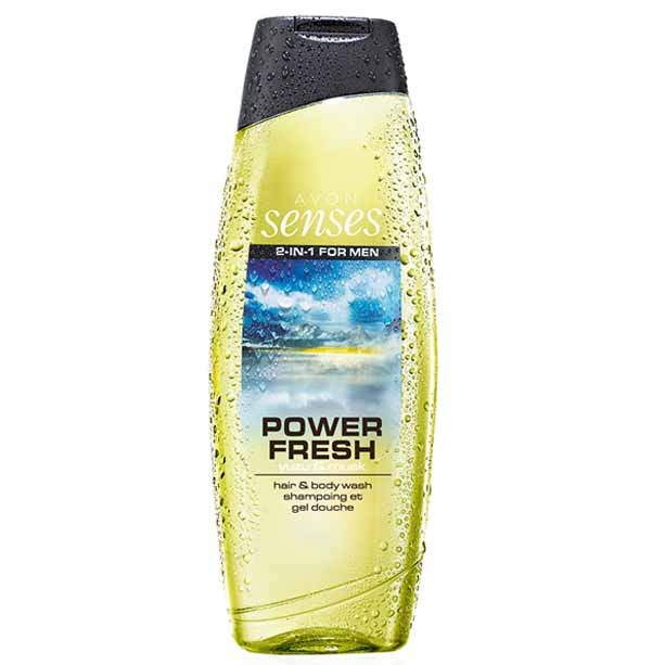 2 in 1 Gel de dus pentru par si corp Senses Power Fresh 500 ml ** - Catalog Avon