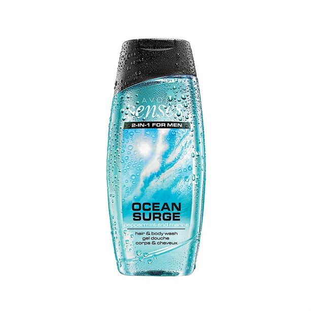 Gel de dus pentru par si corp 2 in 1 Senses Ocean Surge 250 ml - Catalog Avon