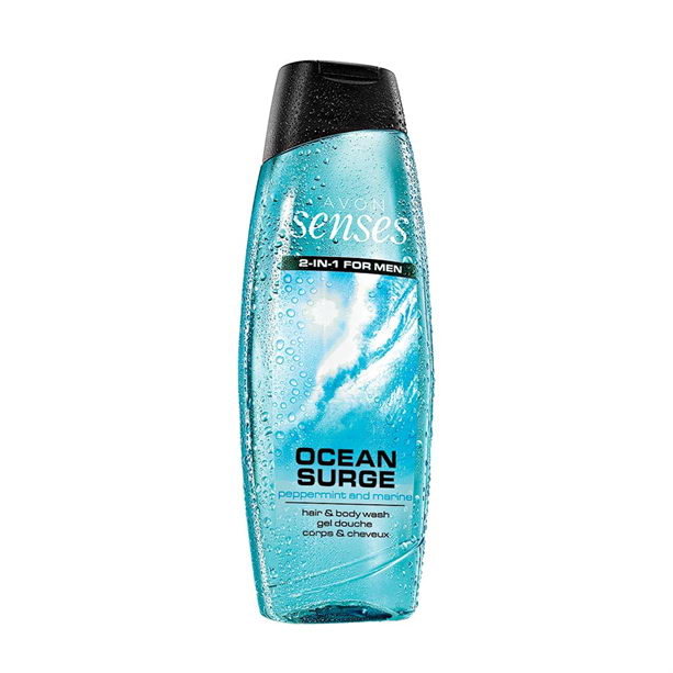 2 in 1 Gel de dus pentru par si corp Senses Ocean Surge 500 ml ** - Catalog Avon