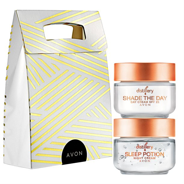 Set Crema de zi Shade the Day SPF25 si Crema de noapte Sleep Potion Distillery - Catalog Avon