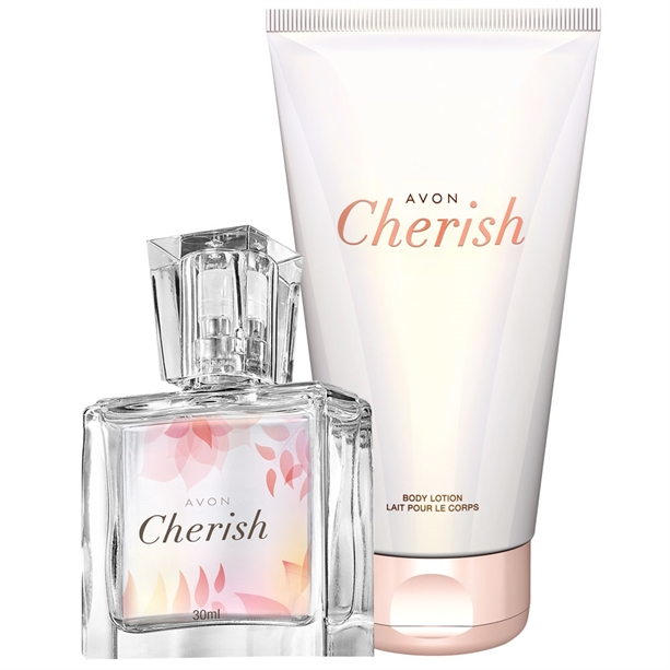 Set Mini-apa de parfum - 30 ml si Lotiune de corp Cherish - Catalog Avon