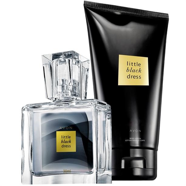 Set Mini-apa de parfum - 30 ml si Lotiune de corp Little Black Dress - Catalog Avon