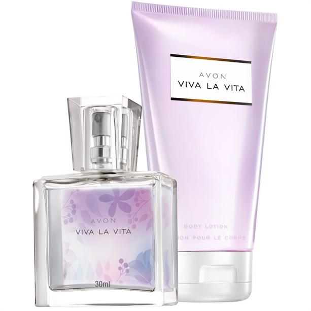 Set Mini-apa de parfum - 30 ml si Lotiune de corp Viva la Vita - Catalog Avon