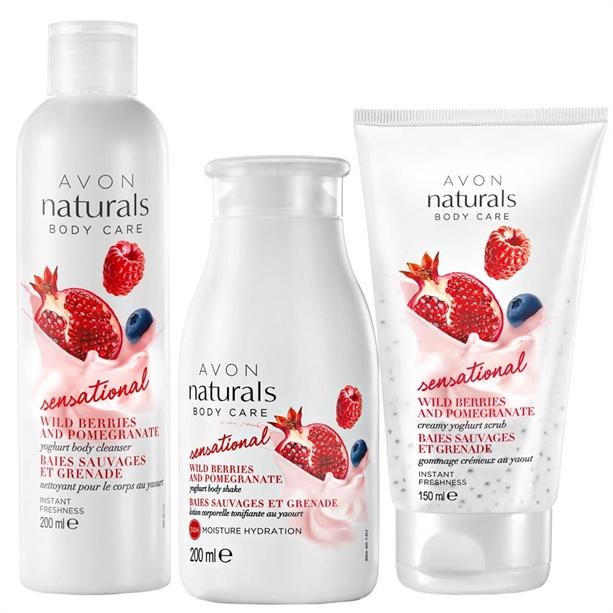 Set 3 produse Naturals cu iaurt - Catalog Avon