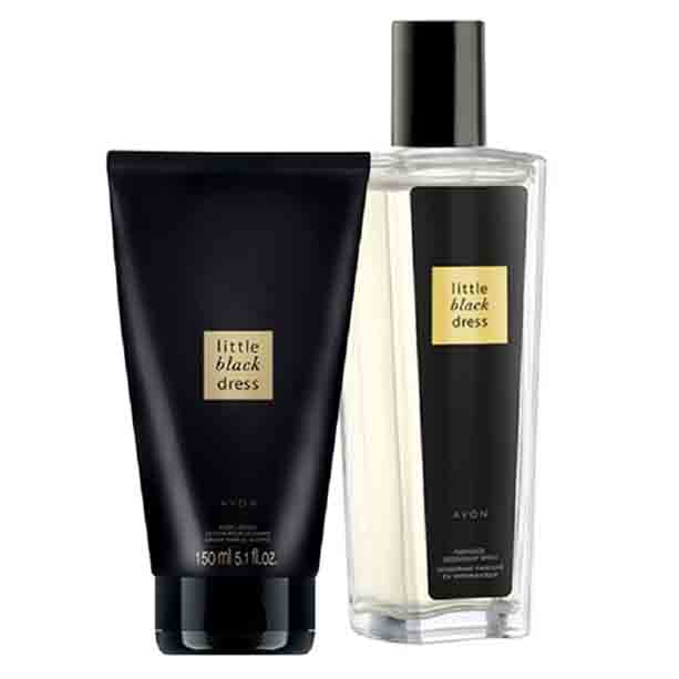 Set Spray parfumat si Lotiune de corp Little Black Dress - Catalog Avon