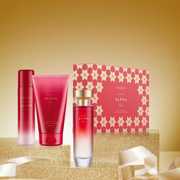 Set  cadou ambalat Avon Alpha pentru Ea - Catalog Avon