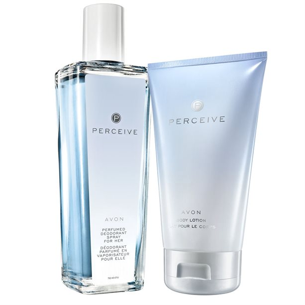 Set Spray parfumat si Lotiune de corp Perceive - Catalog Avon