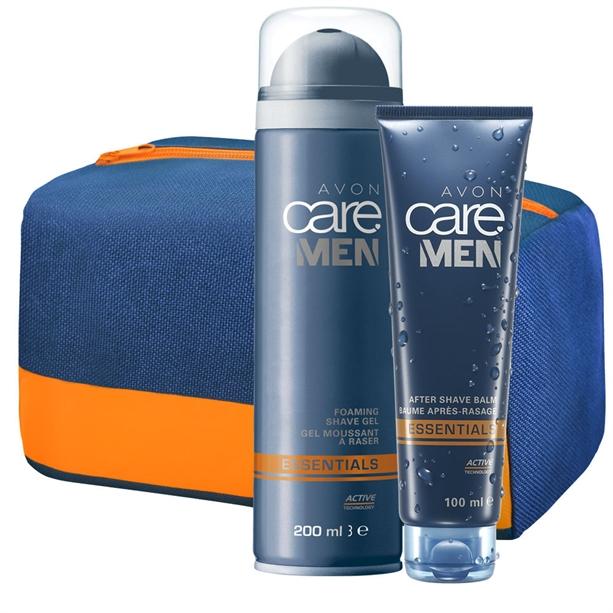 Set Spuma de ras, Balsam dupa ras Avon Care Men Essentials si Geanta cosmetice - Catalog Avon