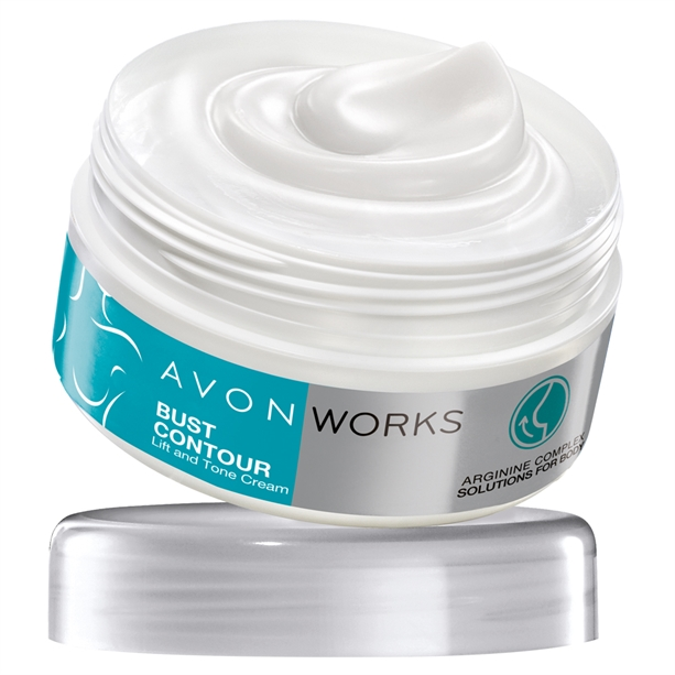 Crema pentru bust Avon Works Bust Contour - Catalog Avon