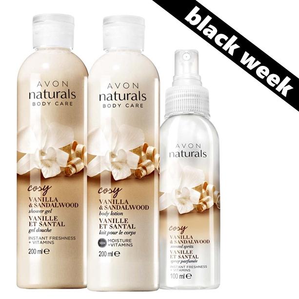 Set 3 produse Naturals cu vanilie si lemn de santal - Catalog Avon